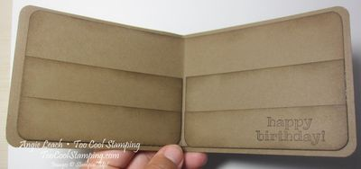 Gift card wallet - open