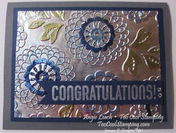 Foil - lovely lace congratulations