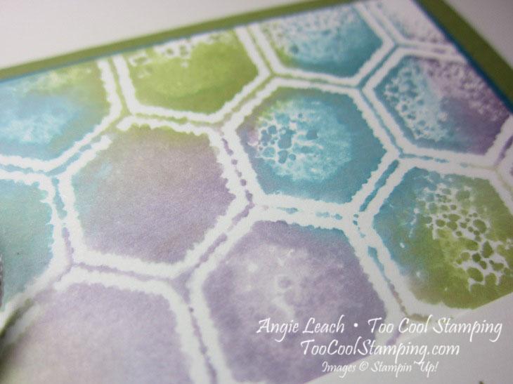 Stamped embossing folder - honeycomb3