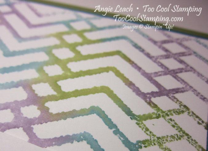 Stamped embossing folder - zigzag2