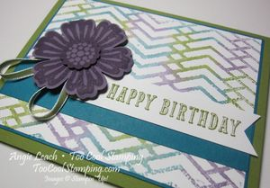 Stamped embossing folder - zigzag3