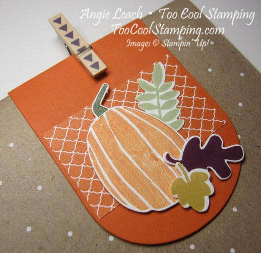 Fall Fest - 4 tangelo pumpkin leaves