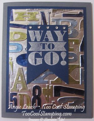 Foil - alphabet press way to go