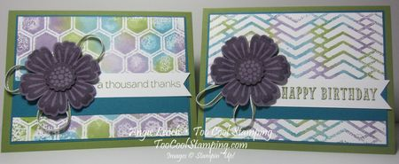 Stamped embossing folder - two cool
