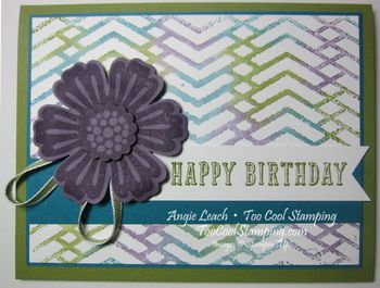 Stamped embossing folder - zigzag