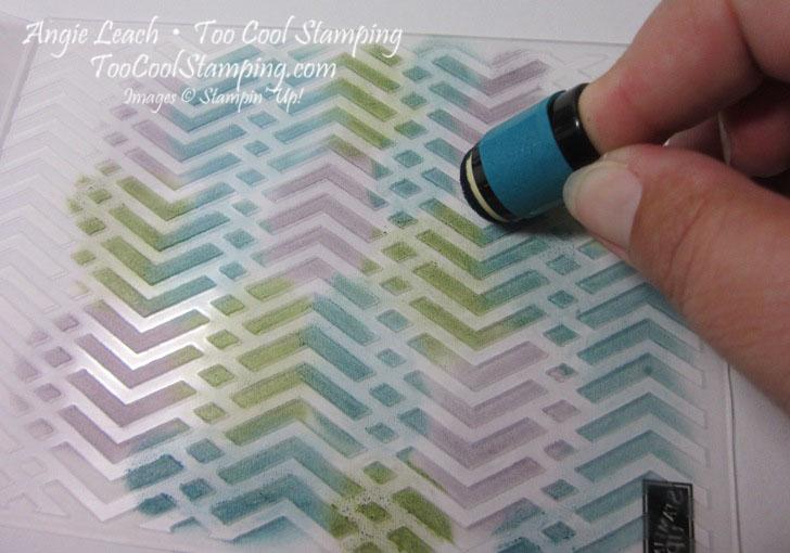 Stamped embossing folder - step 1