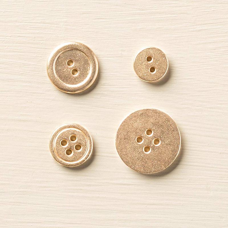 Gold metal buttons 133763G