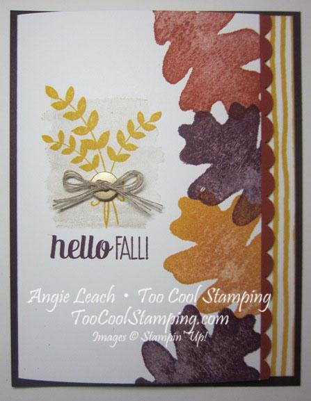 Oak leaf border - hello fall