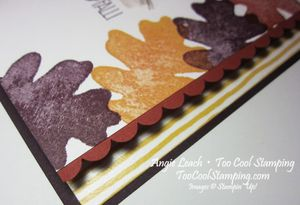 Oak leaf border - hello fall2