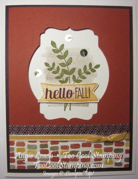 Deco window - hello fall