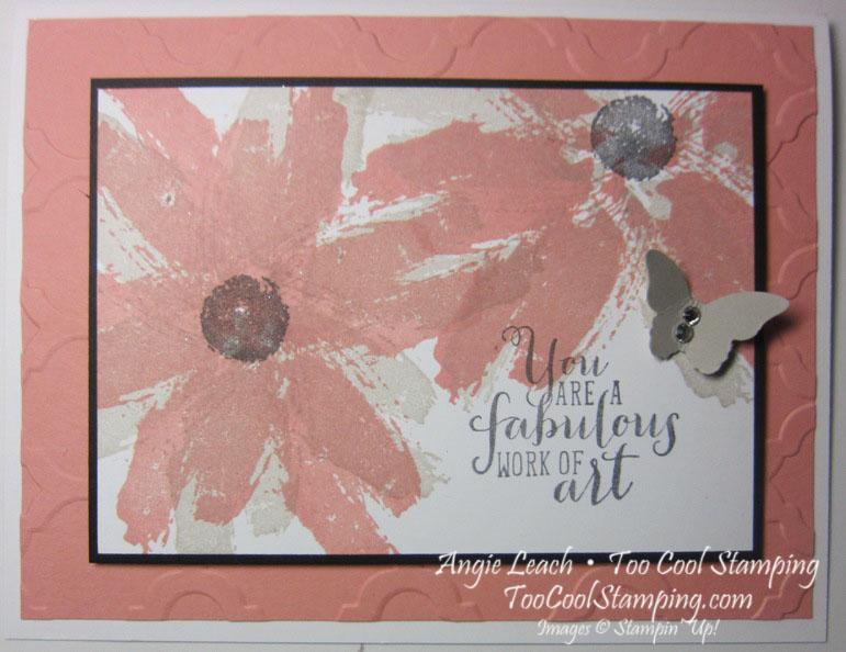 Work of art daisies - cantaloupe