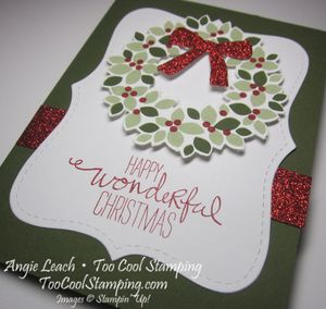 Wondrous wreath top note - mossy 2