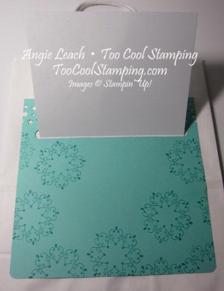 Letterpress snowflake card hanger3