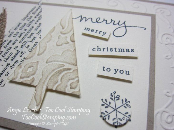 Textured trees - merry merry