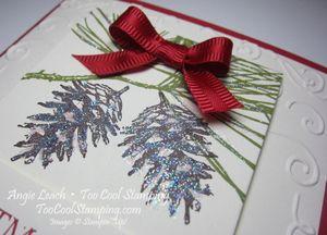 Ornamental banner - pine cones2