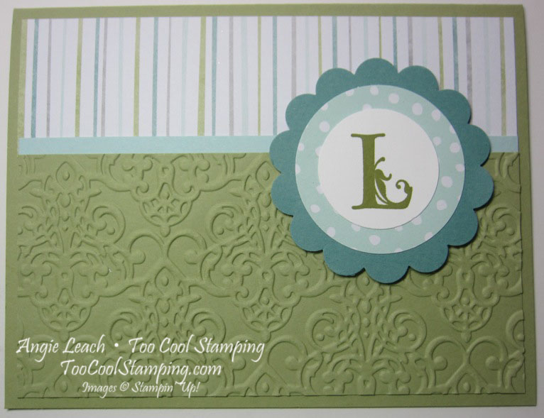 All is calm monogram - 3 pear stripes lacy