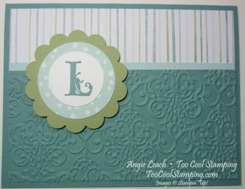 All is calm monogram - 4 lagoon stripes lacy