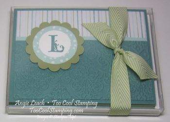 All is calm monogram - card box