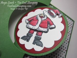 Santa on flip card - white2