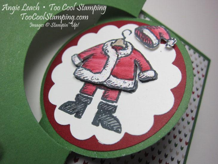 Santa on flip card - white2