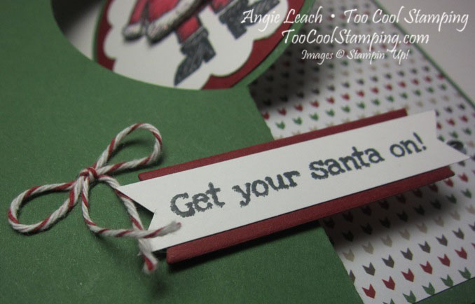 Santa on flip card - white3