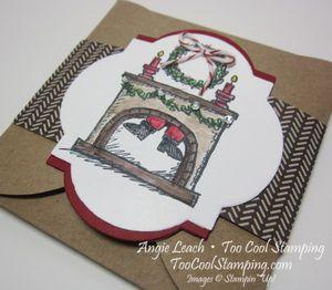 Santa on gift card - espresso