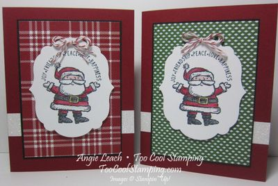 Santa label - two cool