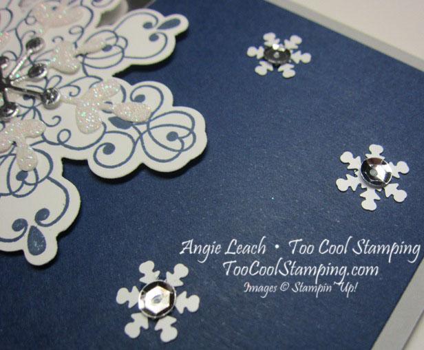 Letterpress navy snowflake - snow 3