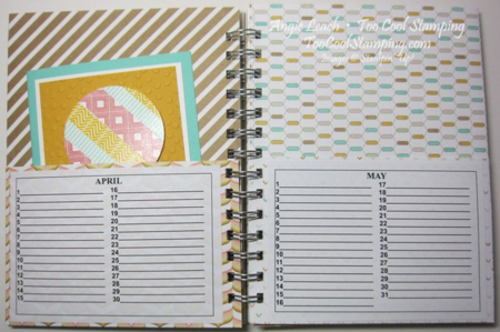 Card organizer - inside apr may