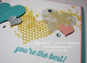 Washi sheet hearts - you're the best 4