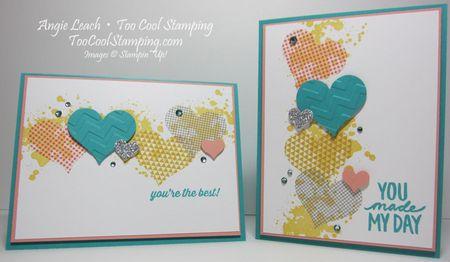 Washi sheet hearts - two cool