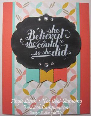 Chalk board sab - she believed