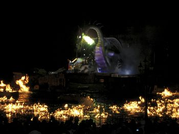 Fantasmic - water on fire