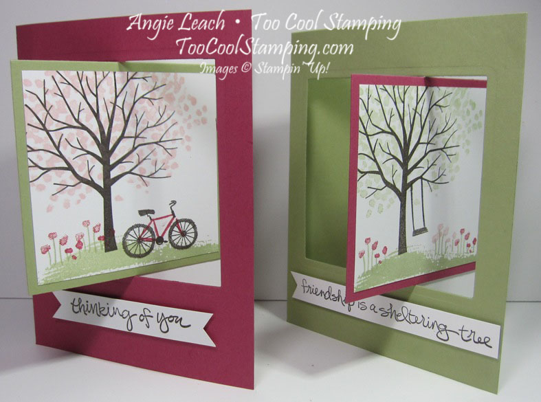 Sheltering tree pop out swing card - two cool