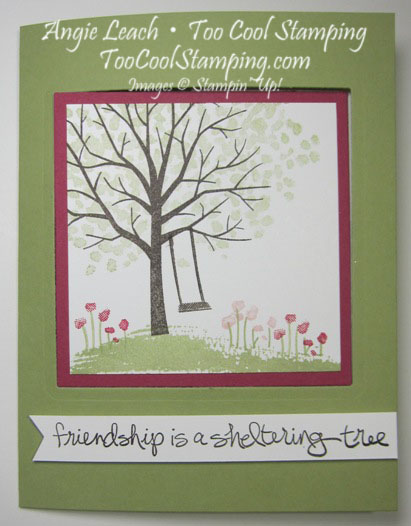 Sheltering tree pop out swing card - pear