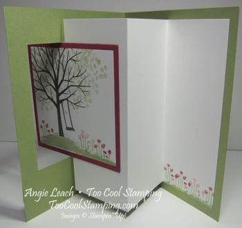 Sheltering tree pop out swing card - pear3