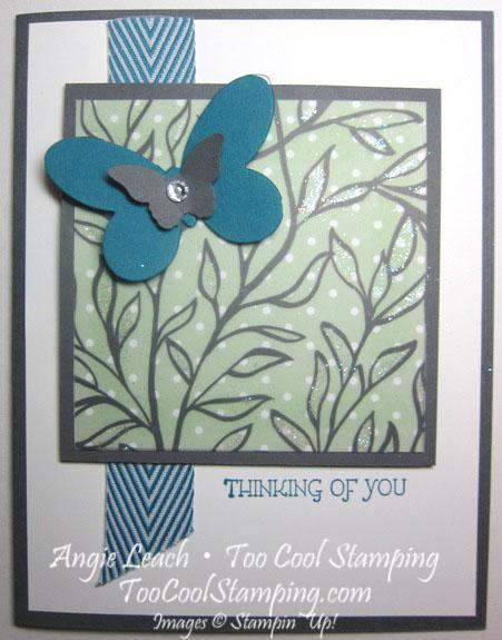 Dazzling vellum leaves - indigo