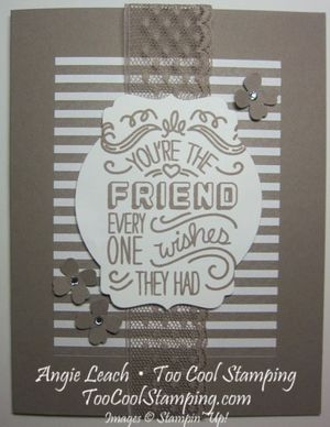 Taupe friendly wishes - friend 1