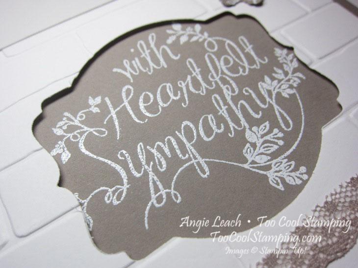 Heartfelt sympathy wall - taupe 2