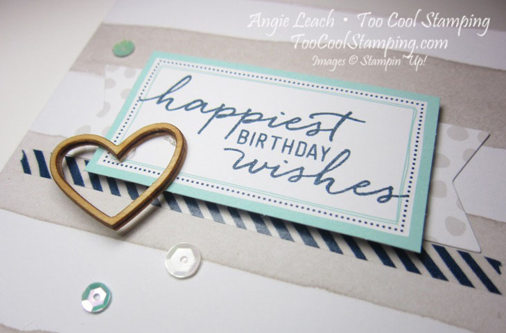 Watercolor Wishes - birthday taupe stripes