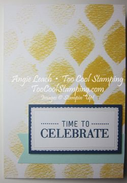 Watercolor Wishes - time to celebrate mosaic