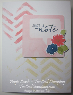 Watercolor Wishes - just a note chevron