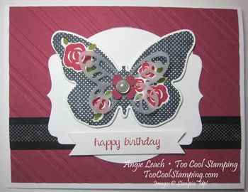 Floral wings - rose red