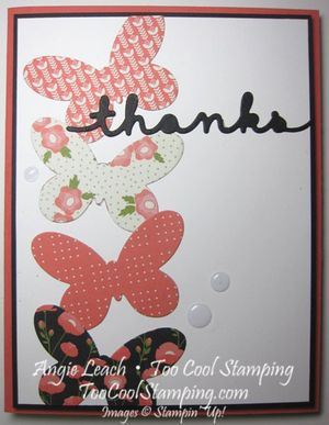 Pretty greetings - coral thanks