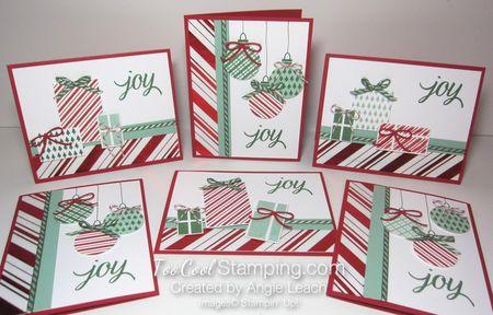 Stripes presents & ornaments - 6 cool