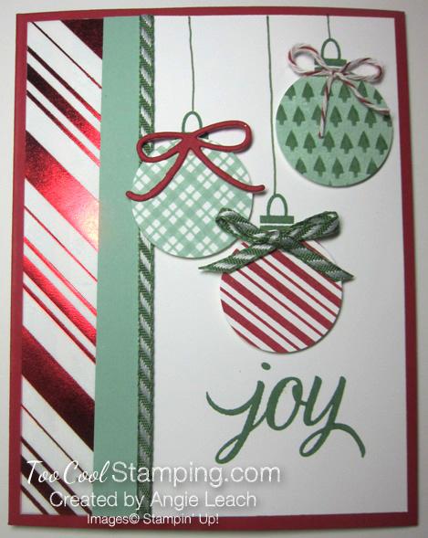 Stripes ornaments - mint plaid