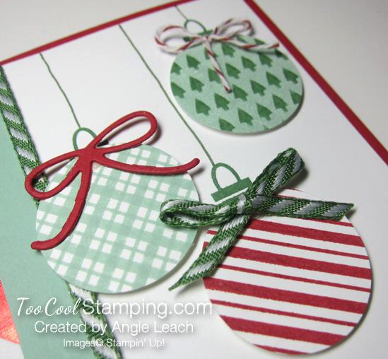 Stripes ornaments - mint plaid 2