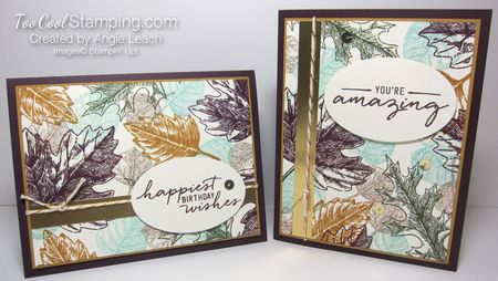 Vintage Leaves collage - two cool