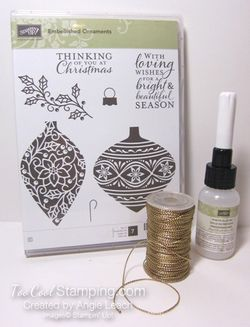 Embellished ornaments - kit contents