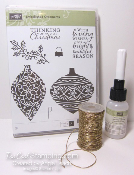 Embellished ornaments - kit contents
